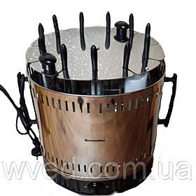 Электрошашлычница Помощница 11 шампуров + колба в подарок 1500Вт с таймером