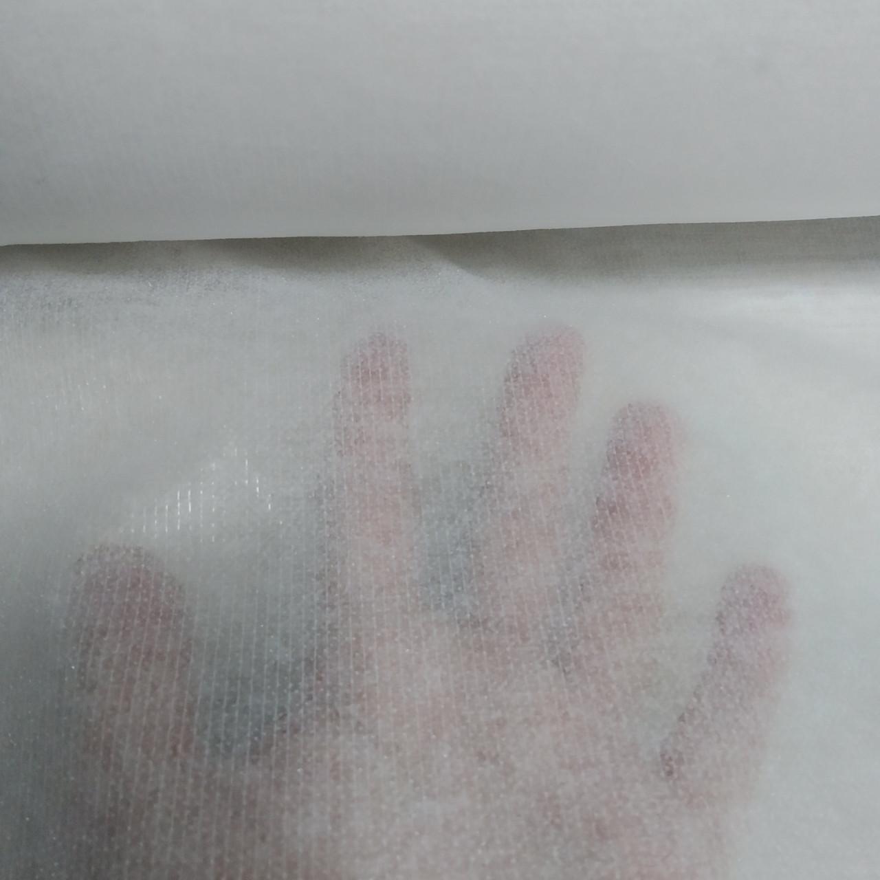 Флезелін клеєвий прошитий, колір білий, ширина 90см