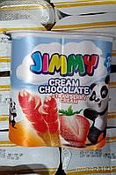 Соломка с шоколадным кремом вкусом клубники в упаковке TM Tayas 55 грм