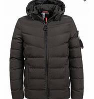 Зимняя подростковая куртка на меху хаки 146-152