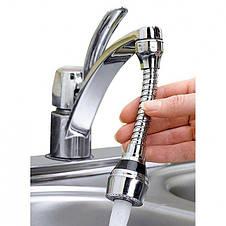 Гибкая насадка для крана Turbo Flex 360 аэратор для экономии воды, фото 2