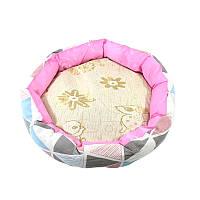 Круглый лежак для котов собак Taotaopets 511101-01 L Pink 5928-17737, КОД: 2404536
