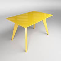 Стеклянный стол Sentenzo ЛЕОНАРДО 1100x640x750 Желтый 236631326859, КОД: 1918609