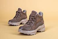 Кроссовки ботинки зимние женские бежевые высокие 39, 40 +video