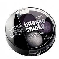 Bourjois Intense Smoky - Bourjois Тени для век 2-х цветные и кремовая подводка для глаз Буржуа Интенс Смоки Вес: 3,9гр., Цвет: Bourjois Intense Smoky