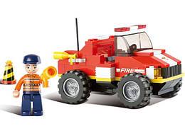 Конструктор SLUBAN M38-B0217 ПОЖЕЖНІ РЯТУВАЛЬНИКИ - Маленький рятувальний вантажівка (118 дит.)