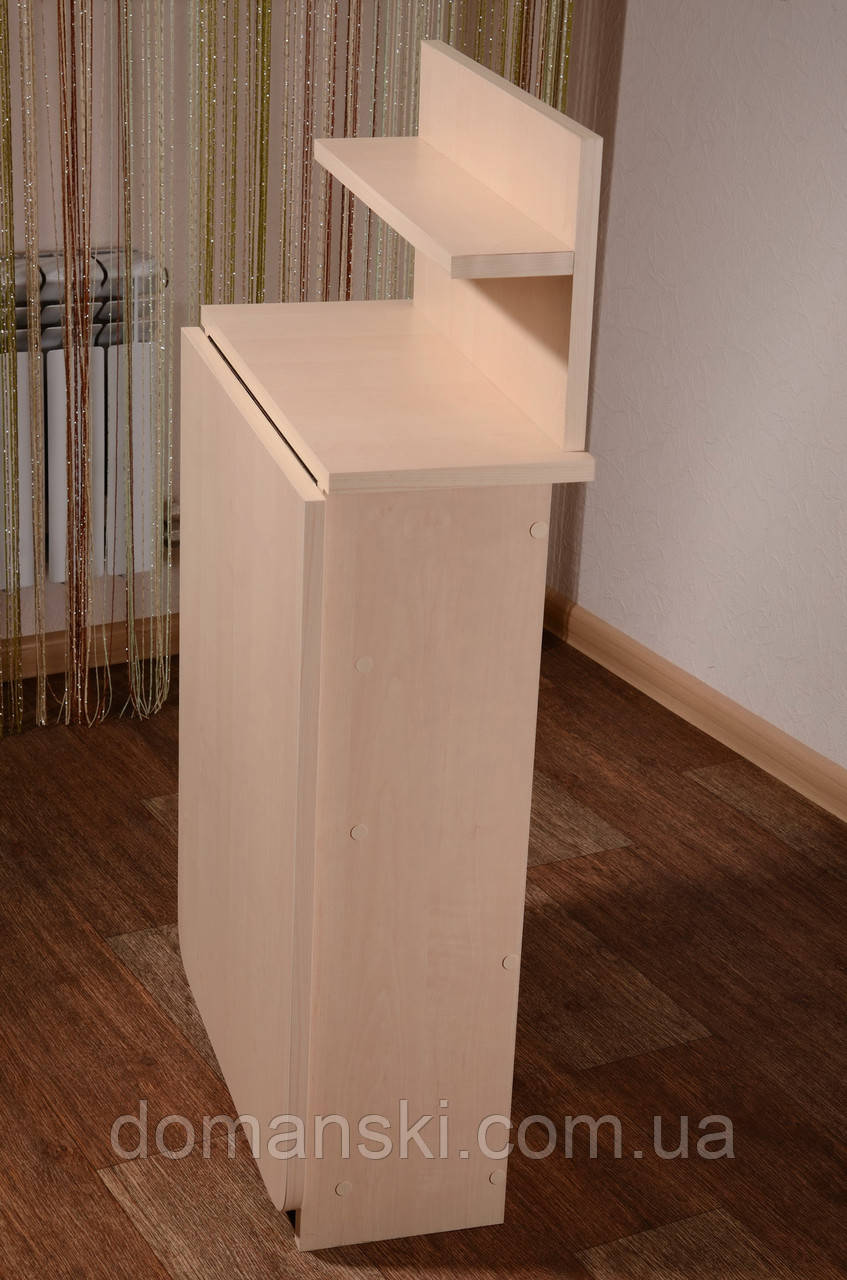 Маникюрный стол складной с полкой для лаков