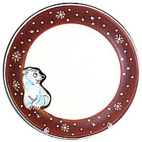 Тарелка десертная ST Добра глина Умка d 19.5 см Бело-коричневый ST-531129psg, КОД: 172218