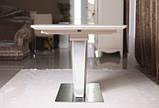 Обеденный стол CHICAGO (Чикаго) 140/185*90 капучино матовое стекло Nicolas (бесплатная доставка), фото 5