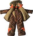 Зимовий комбінезон на хлопчика зріст 104 3-4 роки для дітей дитячий роздільний на синтепоні коричневий, фото 2