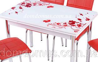 """Стол обеденный  """"Kirmizi"""" (стол ДСП, каленное стекло ) Mobilgen, Турция"""
