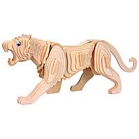 Игрушки из дерева Мир деревянных игрушек 3D пазл Тигр М003, КОД: 2436445