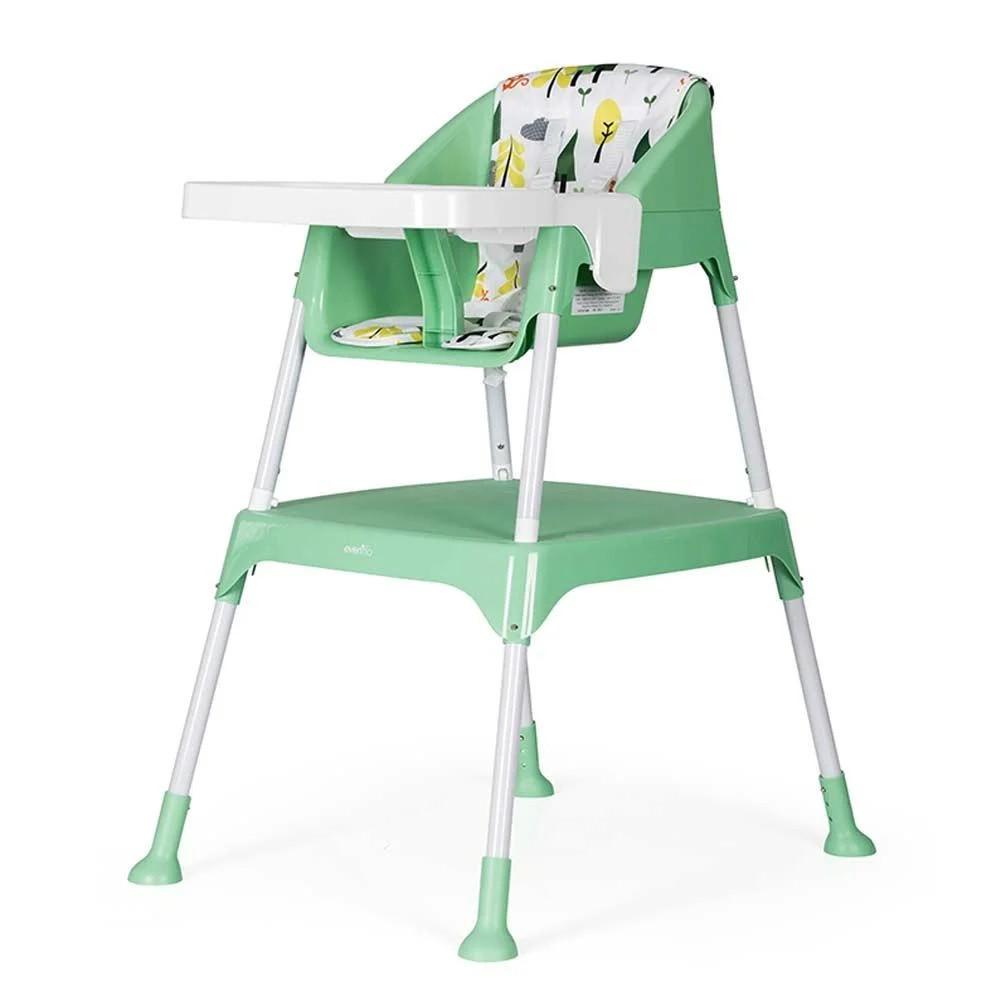 Детский стульчик-трансформер для кормления 3 в 1 Evenflo Y9312-MKGR, Зеленый