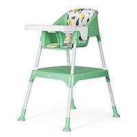Детский стульчик-трансформер для кормления 3 в 1 Evenflo Y9312-MKGR, Зеленый, фото 1