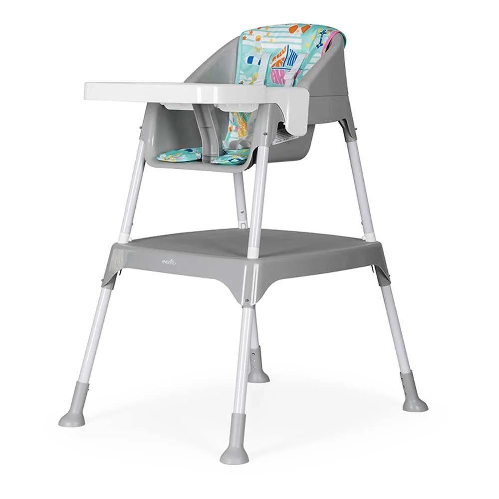 Детский стульчик-трансформер для кормления 3 в 1 Evenflo Y9312-MKGR, Серый