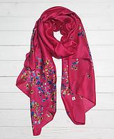 Шелковый шарф Кларисса, 180*90 см, малиновый
