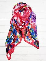 Шелковый шарф Каролина, 180*90 см, малиновый