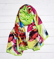 Шелковый шарф Каролина, 180*90 см, салатовый