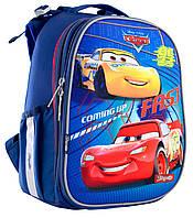 Рюкзак шкільний каркасний 1 Вересня H-25 Cars Синій 556201, КОД: 1247942