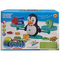 Математические весы Сохрани баланс с карточками и цифрами Пингвины ZG987