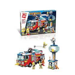 Конструктор QMAN 2809 ПОЖЕЖНИКИ - Пожежна машина (647 дит.)