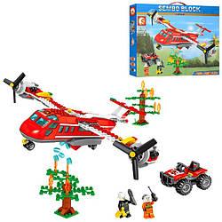 Конструктор SEMBO SD603038 МІСТО - Пожежний літак (433 дит.)