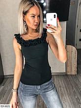 Блуза летняя черная SKL11-259318