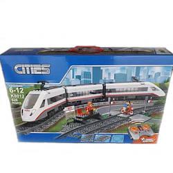 Конструктор LION KING K8012 ГОРОД -  Пассажирский поезд на р/у (628 дет.)