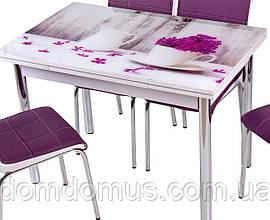 """Стол обеденный """"Vazo"""" 90*60 см (стол ДСП, каленное стекло) Mobilgen, Турция"""