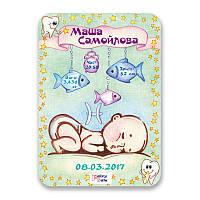 Метрика постер для новорожденных А4 формат Рыбы FTMKA4FISH, КОД: 182637