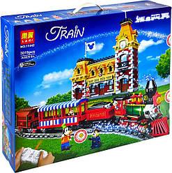 Конструктор BELA (Lary) 11442 ПОЕЗД -  Поезд и станция Disney на р/у (3019 дет.)