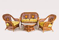 Комплект мебели CRUZO Ацтека натуральный ротанг Королевский дуб d0020, КОД: 2355556