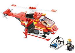 Конструктор SLUBAN M38-B0218 пожежні рятівники, гелікоптер, 155дет., кор., 28,5-19-5,5 см