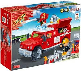 Конструктор BANBAO 8316 ПОЖЕЖНИКИ - Пожежна машина (242 дит.)