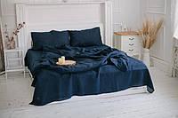 Новый цвет льняного постельного белья - классический синий