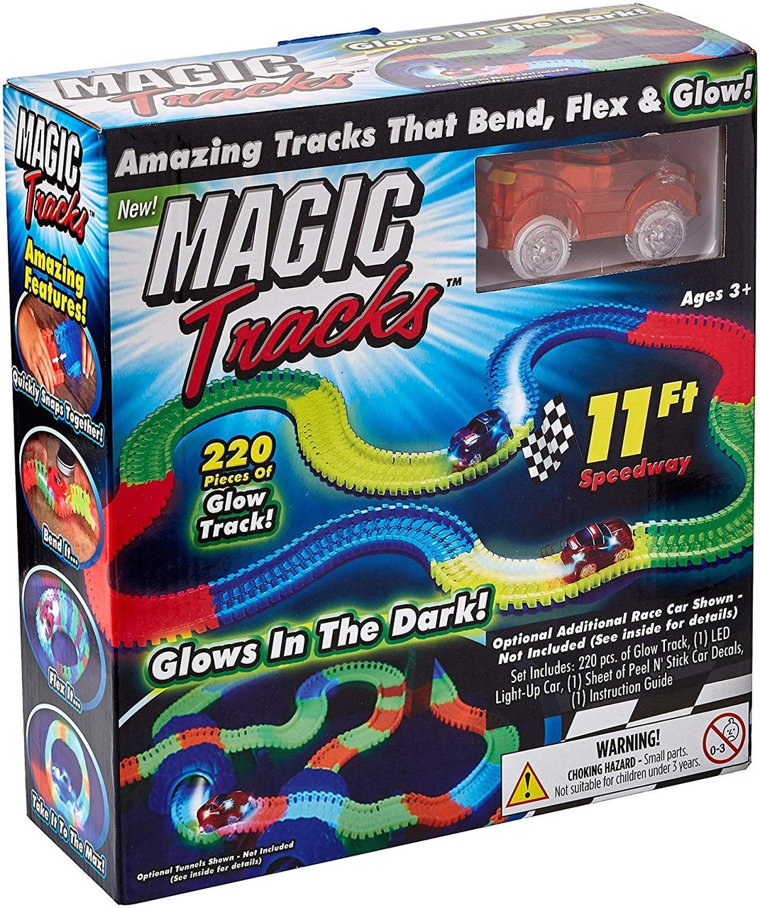 Іграшкова залізниця конструктор Magic Tracks на 220 деталей