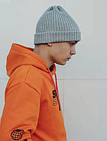 Мужская шапка Staff gray melange, фото 1