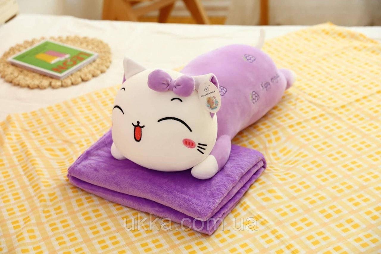 Игрушка плед подушка Котик виноград