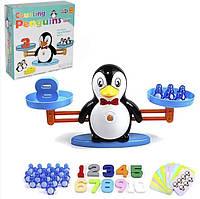 Обучающая счету настольная игра для детей математические весы Сохрани баланс пингвины DD1808-8