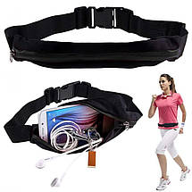 Сумка на пояс спортивная, сумка для бега чехол Runbag красная 149607, фото 3