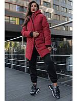 Женская зимняя куртка Staff long bordo, фото 1