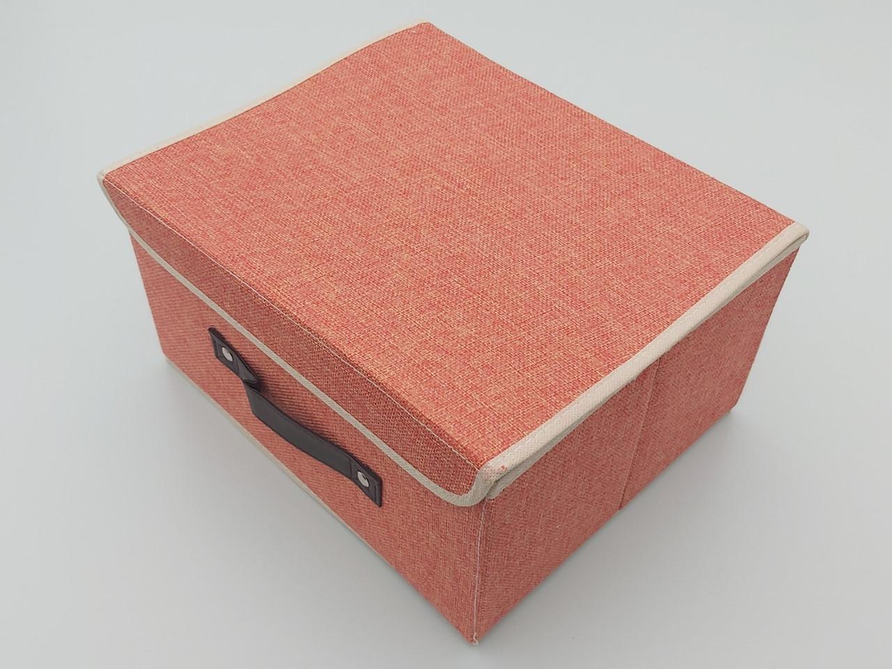 Коробка для хранения персикового цвета