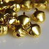 Бубенчики,  светлое золото, 10 мм