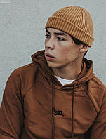 Мужская шапка бини Staff beige, фото 1