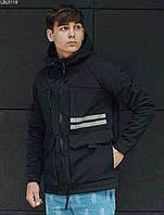 Мужская куртка Staff soft shell gree black