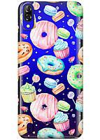 Прозрачный силиконовый чехол iSwag для Blackview A60 с рисунком - Пончики H591, КОД: 1429066