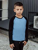 Детский лонгслив Staff black & blue