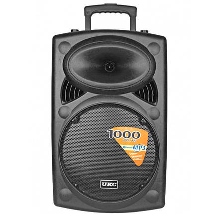 Акустическая система аккумуляторная колонка 15 2 радио микрофона Usb FM Ukc BT15A c 2 mic BT 178915, фото 2