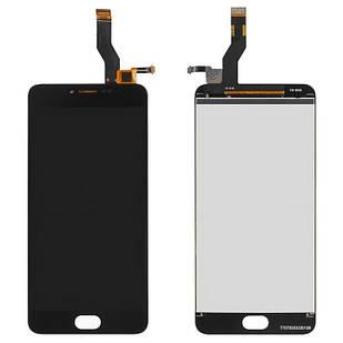 Дисплей для Meizu M3 Note, чорний, із сенсорним екраном, 30 pin, L681H