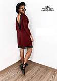 """Женское платье с кружевом из трикотажа """"Magnolia"""", фото 4"""